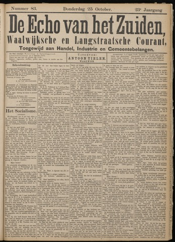 Echo van het Zuiden 1900-10-25