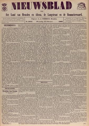 Nieuwsblad het land van Heusden en Altena de Langstraat en de Bommelerwaard 1909-02-17