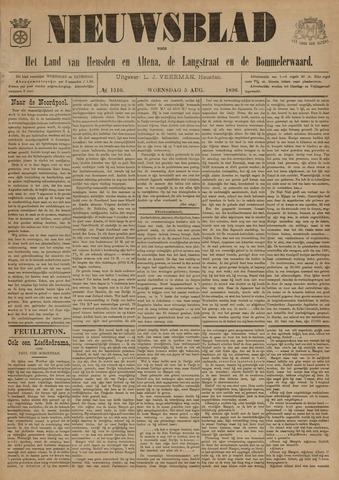 Nieuwsblad het land van Heusden en Altena de Langstraat en de Bommelerwaard 1896-08-05