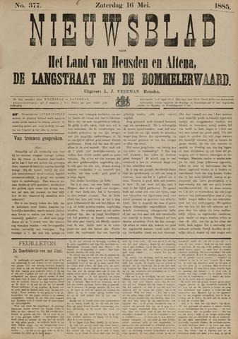Nieuwsblad het land van Heusden en Altena de Langstraat en de Bommelerwaard 1885-05-16