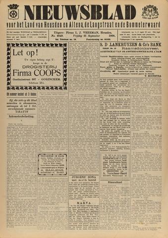 Nieuwsblad het land van Heusden en Altena de Langstraat en de Bommelerwaard 1928-09-21