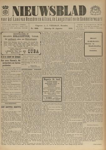 Nieuwsblad het land van Heusden en Altena de Langstraat en de Bommelerwaard 1919-08-16