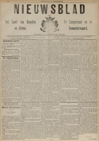 Nieuwsblad het land van Heusden en Altena de Langstraat en de Bommelerwaard 1891-12-23