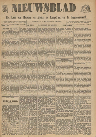 Nieuwsblad het land van Heusden en Altena de Langstraat en de Bommelerwaard 1904-03-30