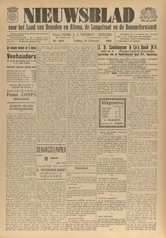 Nieuwsblad het land van Heusden en Altena de Langstraat en de Bommelerwaard 1934-02-16