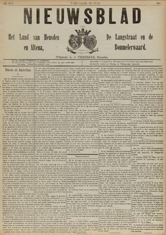 Nieuwsblad het land van Heusden en Altena de Langstraat en de Bommelerwaard 1890-07-30