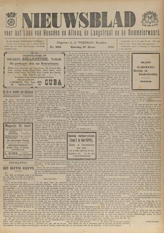 Nieuwsblad het land van Heusden en Altena de Langstraat en de Bommelerwaard 1919-03-29