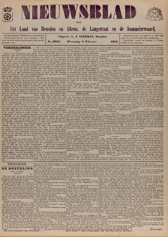 Nieuwsblad het land van Heusden en Altena de Langstraat en de Bommelerwaard 1911-02-08