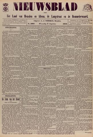 Nieuwsblad het land van Heusden en Altena de Langstraat en de Bommelerwaard 1910-08-03