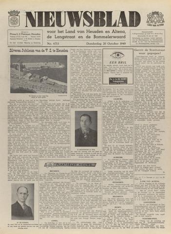 Nieuwsblad het land van Heusden en Altena de Langstraat en de Bommelerwaard 1949-10-20
