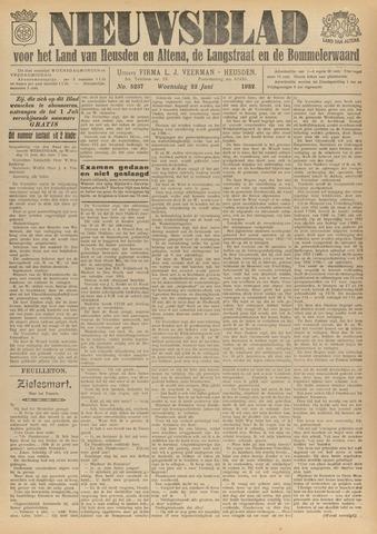 Nieuwsblad het land van Heusden en Altena de Langstraat en de Bommelerwaard 1932-06-22