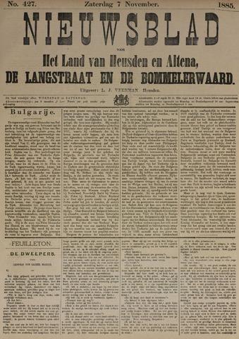 Nieuwsblad het land van Heusden en Altena de Langstraat en de Bommelerwaard 1885-11-07