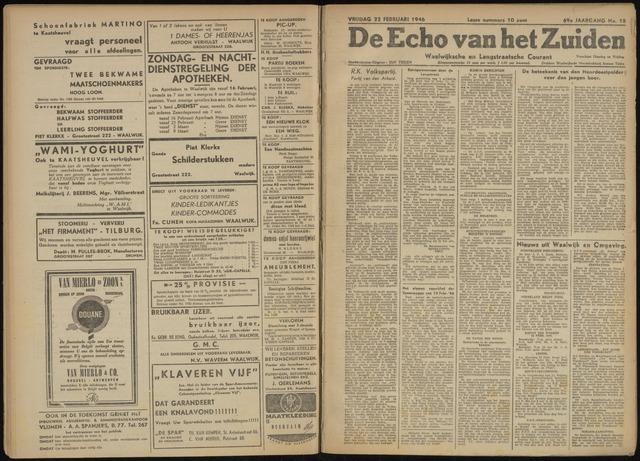 Echo van het Zuiden 1946-02-22