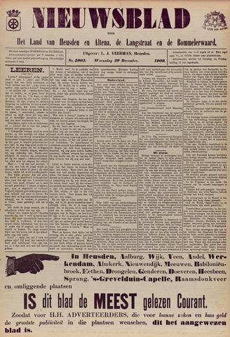 Nieuwsblad het land van Heusden en Altena de Langstraat en de Bommelerwaard 1909-12-29