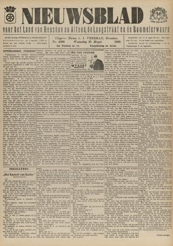 Nieuwsblad het land van Heusden en Altena de Langstraat en de Bommelerwaard 1925-03-25