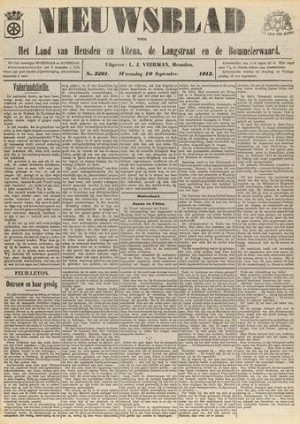 Nieuwsblad het land van Heusden en Altena de Langstraat en de Bommelerwaard 1913-09-10
