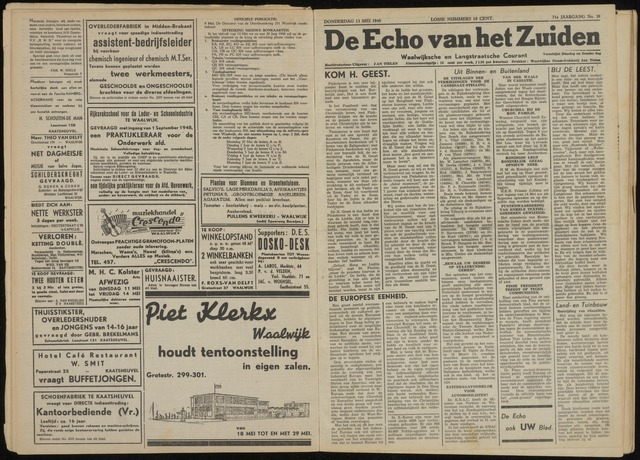 Echo van het Zuiden 1948-05-13