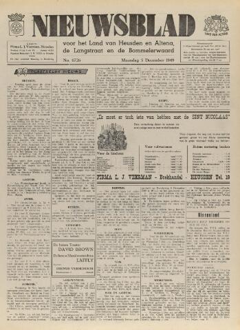 Nieuwsblad het land van Heusden en Altena de Langstraat en de Bommelerwaard 1949-12-05