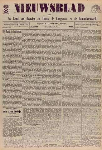 Nieuwsblad het land van Heusden en Altena de Langstraat en de Bommelerwaard 1910-06-08