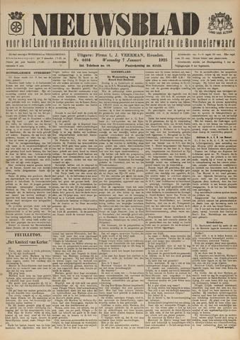 Nieuwsblad het land van Heusden en Altena de Langstraat en de Bommelerwaard 1925-01-07