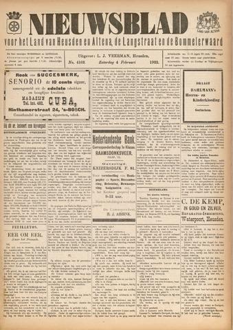 Nieuwsblad het land van Heusden en Altena de Langstraat en de Bommelerwaard 1922-02-04