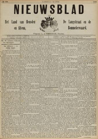 Nieuwsblad het land van Heusden en Altena de Langstraat en de Bommelerwaard 1890-06-14