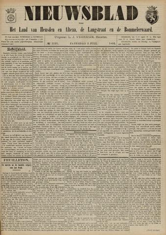 Nieuwsblad het land van Heusden en Altena de Langstraat en de Bommelerwaard 1892-07-02
