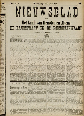 Nieuwsblad het land van Heusden en Altena de Langstraat en de Bommelerwaard 1883-10-24