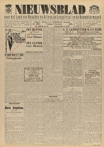 Nieuwsblad het land van Heusden en Altena de Langstraat en de Bommelerwaard 1928-11-09