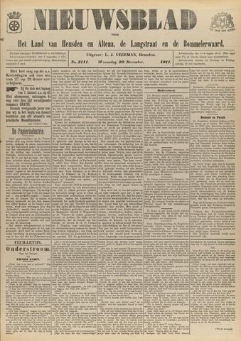 Nieuwsblad het land van Heusden en Altena de Langstraat en de Bommelerwaard 1911-12-20