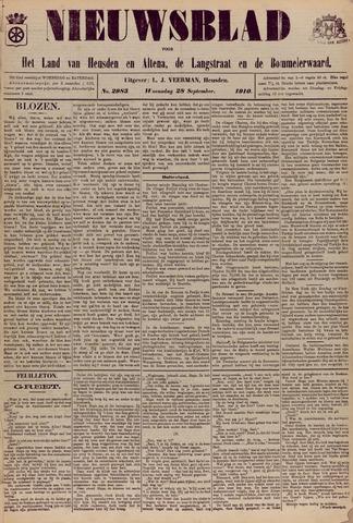 Nieuwsblad het land van Heusden en Altena de Langstraat en de Bommelerwaard 1910-09-28