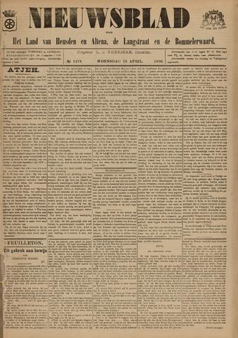 Nieuwsblad het land van Heusden en Altena de Langstraat en de Bommelerwaard 1896-04-15