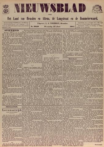 Nieuwsblad het land van Heusden en Altena de Langstraat en de Bommelerwaard 1911-06-21