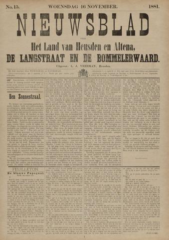 Nieuwsblad het land van Heusden en Altena de Langstraat en de Bommelerwaard 1881-11-16