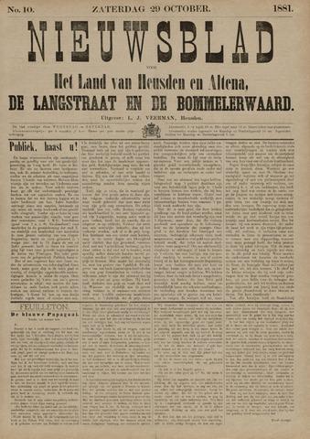 Nieuwsblad het land van Heusden en Altena de Langstraat en de Bommelerwaard 1881-10-29
