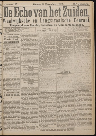 Echo van het Zuiden 1907-12-08