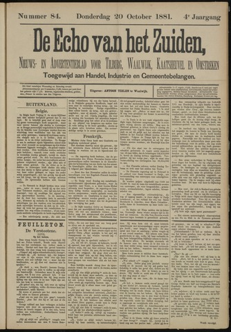 Echo van het Zuiden 1881-10-20