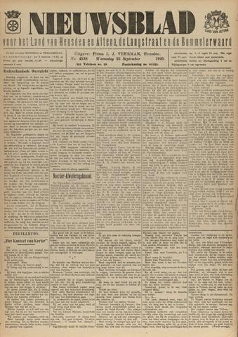 Nieuwsblad het land van Heusden en Altena de Langstraat en de Bommelerwaard 1925-09-23