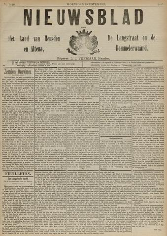 Nieuwsblad het land van Heusden en Altena de Langstraat en de Bommelerwaard 1891-11-25