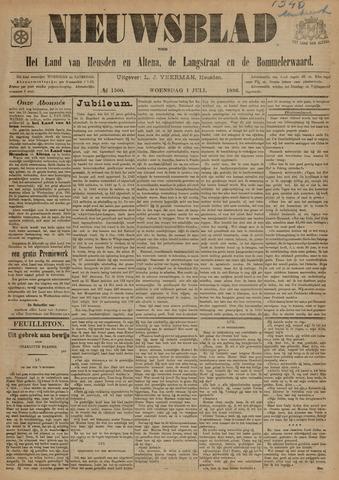Nieuwsblad het land van Heusden en Altena de Langstraat en de Bommelerwaard 1896-07-01