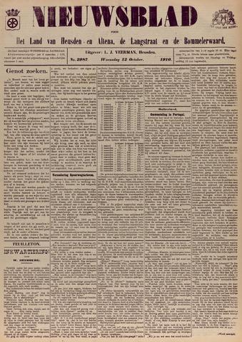 Nieuwsblad het land van Heusden en Altena de Langstraat en de Bommelerwaard 1910-10-12