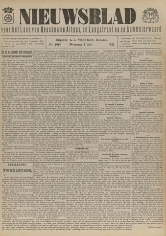Nieuwsblad het land van Heusden en Altena de Langstraat en de Bommelerwaard 1921-05-04
