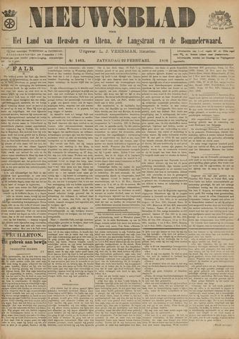Nieuwsblad het land van Heusden en Altena de Langstraat en de Bommelerwaard 1896-02-22