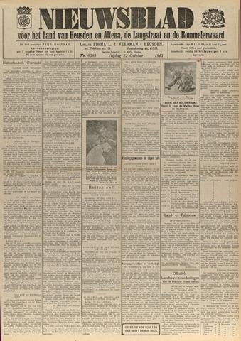Nieuwsblad het land van Heusden en Altena de Langstraat en de Bommelerwaard 1943-10-22