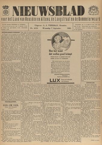 Nieuwsblad het land van Heusden en Altena de Langstraat en de Bommelerwaard 1921-09-07