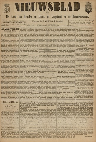 Nieuwsblad het land van Heusden en Altena de Langstraat en de Bommelerwaard 1895-02-06