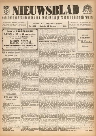 Nieuwsblad het land van Heusden en Altena de Langstraat en de Bommelerwaard 1921-12-31