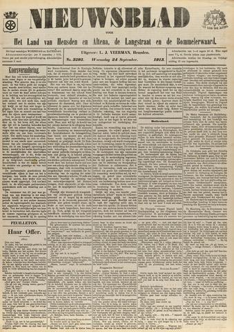 Nieuwsblad het land van Heusden en Altena de Langstraat en de Bommelerwaard 1913-09-24