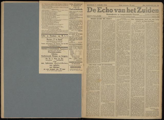 Echo van het Zuiden 1946-01-07