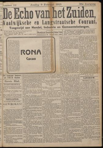 Echo van het Zuiden 1913-02-09